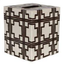 Kleenex Box Cream W. Brown Squares