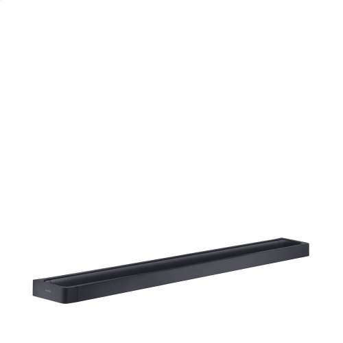 Satin Black Rail bath towel holder 800 mm