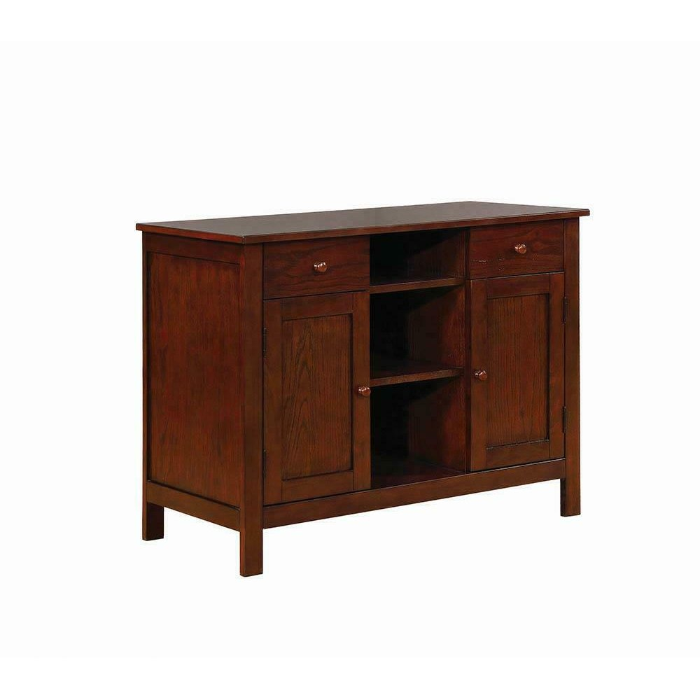 Lavon Transitional Warm Brown Server