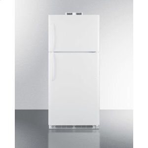 Summit21 CU.FT. Break Room Refrigerator-freezer In White With Nist Calibrated Alarm/thermometers