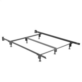 Inst-A-Matic Hospitality H753G Bed Frame with Fixed Headboard Brackets and (6) 2-Piece Glide Legs, Full