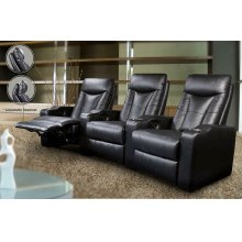 Pavillion Black Leather Right Recliner