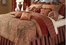 13PC.King Comforter Set Spice