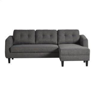 Belagio Sofa Bed With Chaise Charcoal Right
