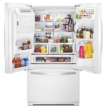 Whirlpool 36-Inch Wide French Door Bottom Freezer Refrigerator With Storeright System - 27cu. Ft.