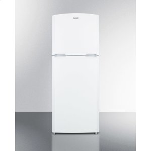 "SummitCounter Depth Frost-free Refrigerator-freezer In White With A 26"" Footprint, Factory-installed Icemaker, and Reversible Doors"