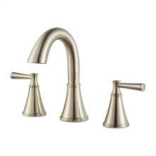 "Brushed Nickel 2-Handle 8"" Widespread Bathroom Faucet"