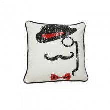 White Stone Wash Recycle Canvas Cushion -Hat- ( cotton) 18*18