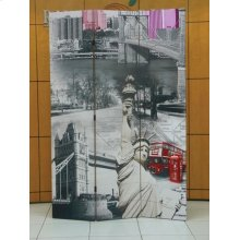 SCENERY 3-PANEL WOODEN SCREEN