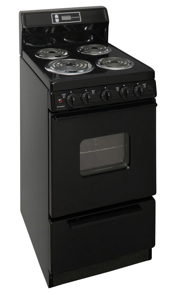 20 in. Freestanding Electric Range in Black Photo #2