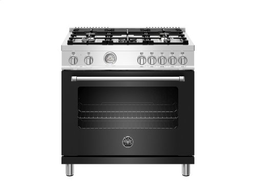 36 inch Dual Fuel Range, 5 Burner, Electric Oven Matt Black
