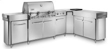 SUMMIT Natural Gas Grill Center with social Area (Stainless Steel)