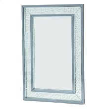 Rect Wall Decor Crystal Framed Mirror