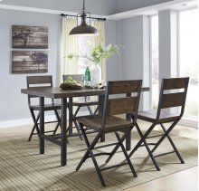 Kavara - Medium Brown 5 Piece Dining Room Set