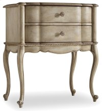 Bedroom Sanctuary Two Drawer Leg Nightstand-Pearl Essence Product Image