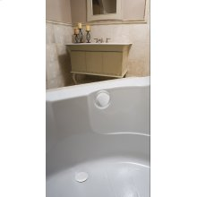 "TurnControl Bath Waste and Overflow A dazzling turn Molded plastic - White Material - Finish 17"" - 24"" Tub Depth* 27"" Cable Length"