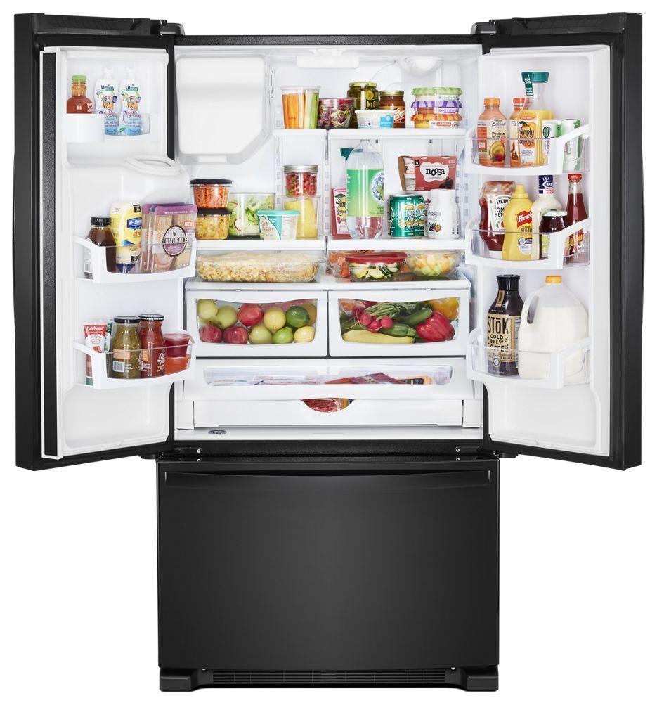WRF555SDHB Whirlpool 36-inch Wide French Door Refrigerator