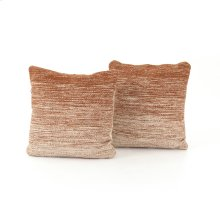 "20x20"" Size Tawny Ombre Pillow, Set of 2"