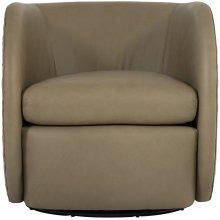 Lillian Swivel Chair in #13 Bright Nickel