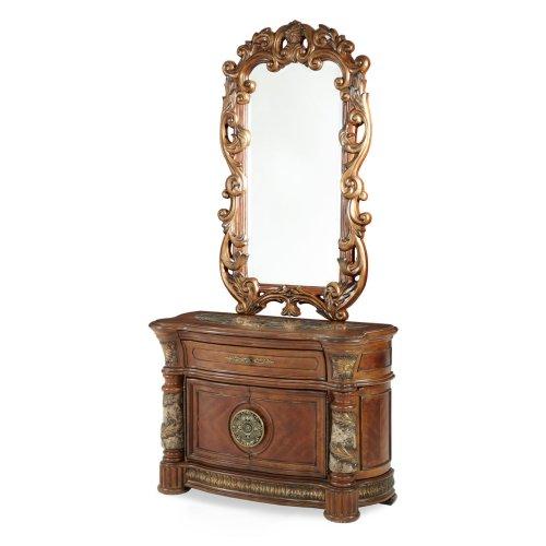 Bachelor's Chest & Decorative Mirror (2 Pc)