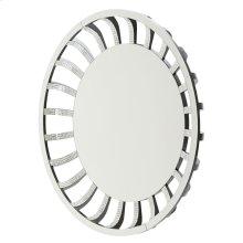 Round Wall Mirror W/crystal and Glass Sunburst