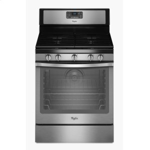 5.8 Cu. Ft. Freestanding Gas Range with Center Burner - BLACK-ON-STAINLESS