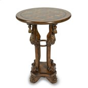 Accent Table W/brown & Blackstone Inlayed Top