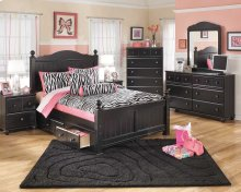 Jaidyn - Black 5 Piece Bed Set (Full)