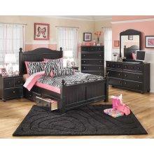 Jaidyn - Black 5 Piece Bed Set (Full)