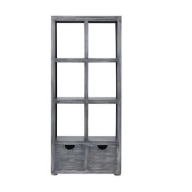 Bookcase - Brushed Gray Finish