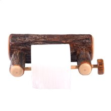 Hickory Wall-Mounted Toilet Paper Holder