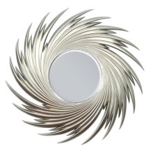 "SILVER ACCENT MIRROR, 44""D"