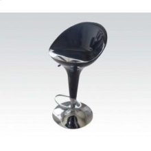 Black/chrome Adjustable Stool