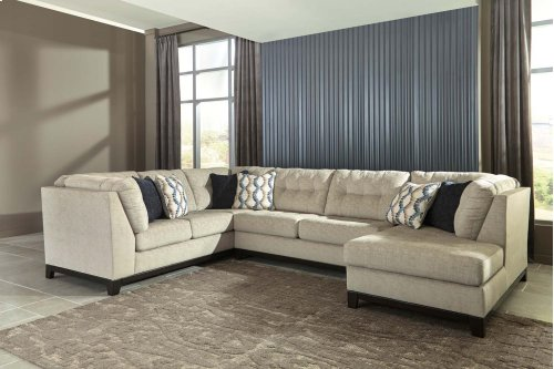Beckendorf - Chalk 3 Piece Right Chaise, Left Sofa Sectional