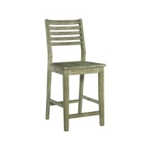 ASPEN LADDERBACK STOOL IN GRAY WASH