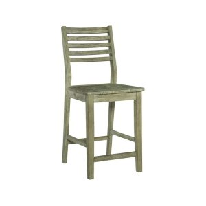 JOHN THOMAS FURNITUREASPEN LADDERBACK STOOL IN GRAY WASH