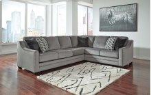 Bicknell Charcoal Right Sofa w/ Corner Wedge, Left Sofa