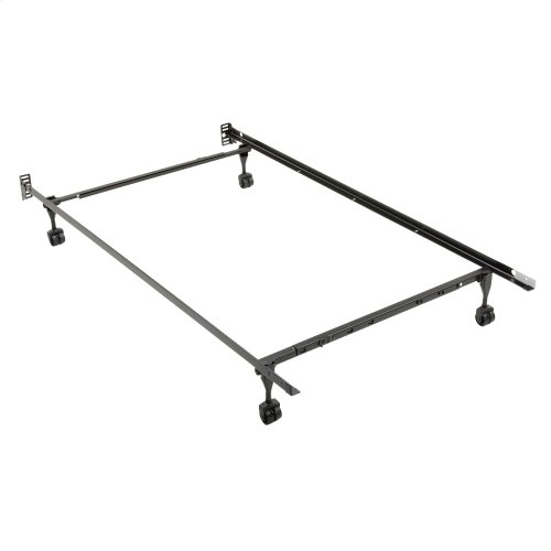 Sentry PL79R Adjustable Posi-lock Bed Frame with Headboard Brackets and (4) 2-Inch Rug Roller Legs, Twin - Full
