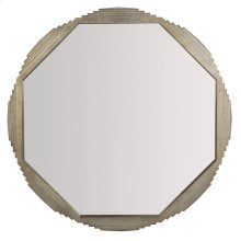 Mosaic Octagonal Mirror in Warm Graphite Leaf (373)