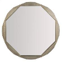 Mosaic Octagonal Mirror in Warm Graphite Leaf (373)