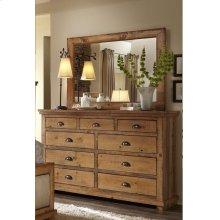 Dresser \u0026 Mirror - Distressed Pine Finish