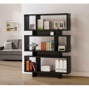 CoasterContemporary Cappuccino Geometric Bookcase