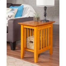 Mission Chair Side Table Caramel Latte