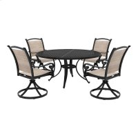 Bass Lake - Beige/Brown 4 Piece Patio Set Product Image
