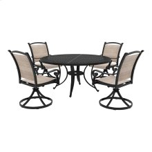 Bass Lake - Beige/Brown 4 Piece Patio Set