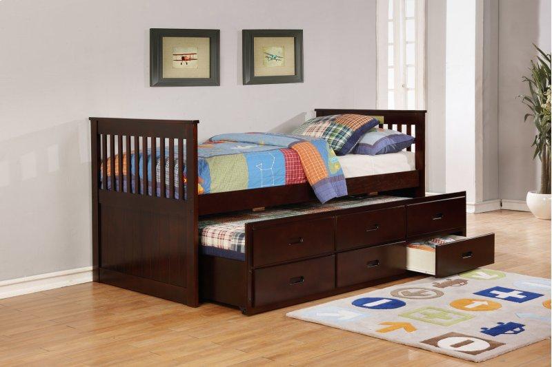 9064esp In By Myco Furniture In Houston Tx Bennett Espresso Twin