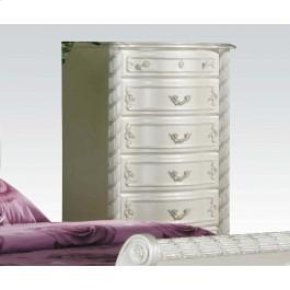 Pearl Wh 5-drawer Chest @n