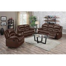 Eden Brown Leather Recliner Chair