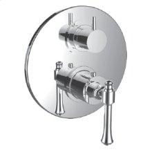 "7099ho-tm - 1/2"" Thermostatic Trim With 3-way Diverter Trim (shared Function) in Orobrass"