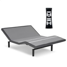 Simplicity 3.0 Low-Profile Adjustable Bed Base with Full Body Massage and Simultaneous Movement, Charcoal Gray Finish, Queen